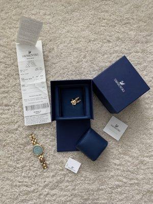 Swarovski Zegarek analogowy złoto-turkusowy