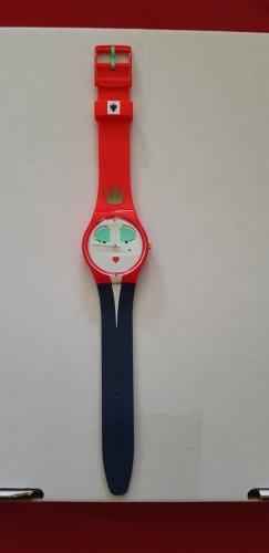 Swatch Analog Watch red-dark blue