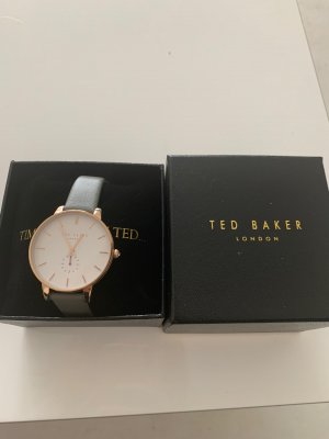Ted baker Watch With Leather Strap rose-gold-coloured-grey
