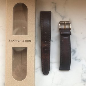 Kapten & Son Watch With Leather Strap brown