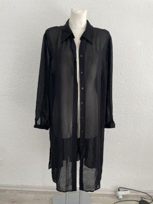 Ula Popken Bluse Kleid gr 46/48 schwarz transparent