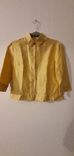 Uli Knecht Zijden blouse goud-sleutelbloem