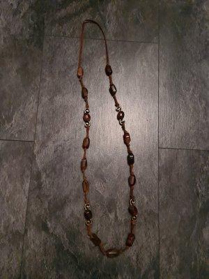 Uli Knecht Collier incrusté de pierres doré-brun