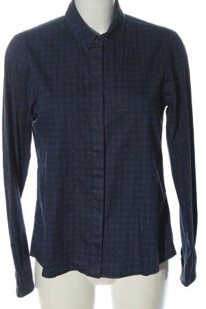 Uli Knecht Long Sleeve Shirt blue-black allover print casual look
