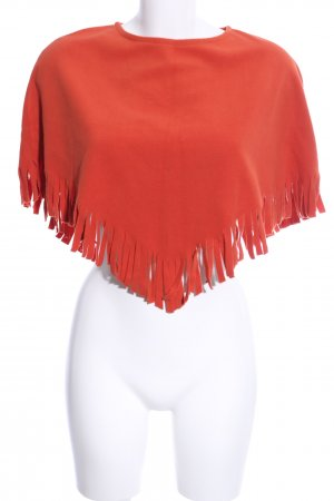 Uli Knecht Poncho rot Casual-Look