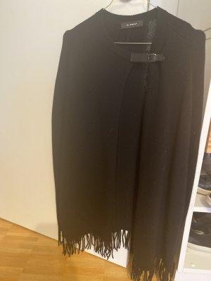 Uli Knecht Poncho in maglia nero