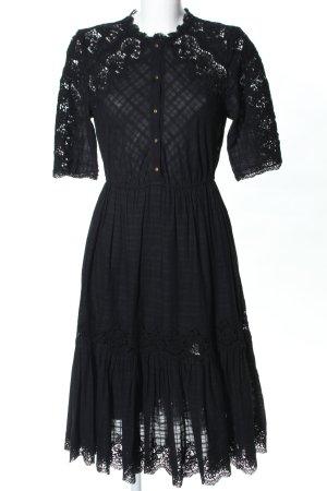 Ulla Johnson A-Linien Kleid schwarz Karomuster Elegant