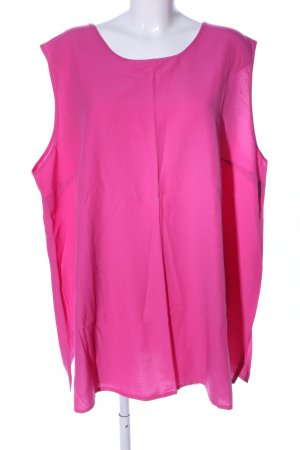 Ulla Popken ärmellose Bluse pink Casual-Look