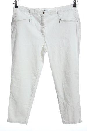 Ulla Popken Baggy jeans wit casual uitstraling