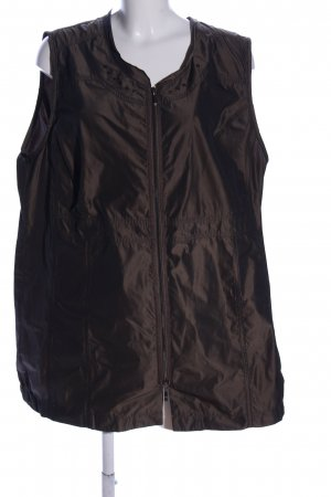Ulla Popken Biker Vest brown casual look