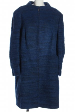 Ulla Popken bodenlanger Mantel blau Casual-Look