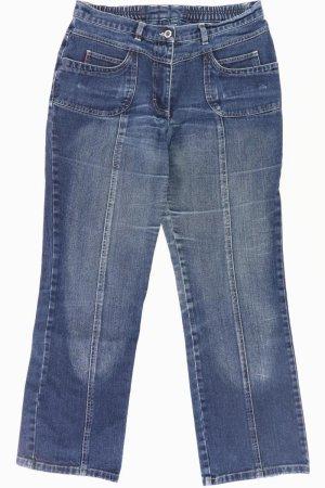 Ulla Popken Jeans bootcut bleu-bleu fluo-bleu foncé-bleu azur coton