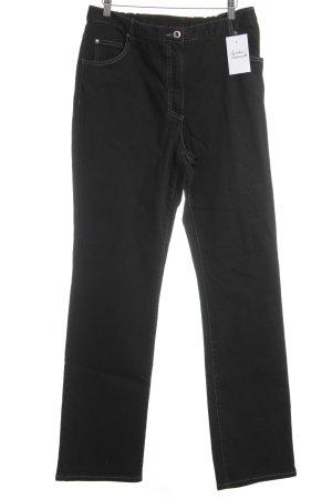 Ulla Popken Pantalone cinque tasche nero stile casual