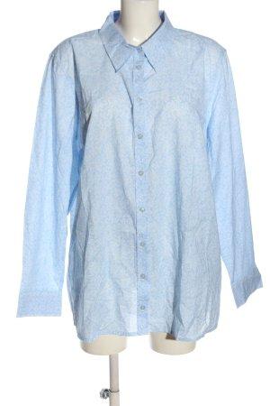 Ulla Popken Camicia blusa blu-bianco stampa integrale stile casual