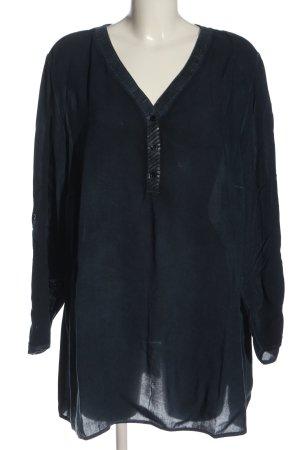 Ulla Popken Camicia blusa blu stile casual