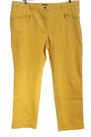 Ulla Popken Pantalone a vita alta giallo pallido stile casual