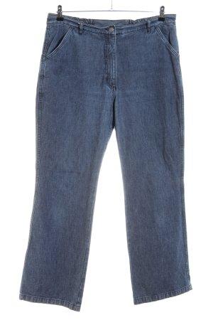 Ulla Popken High Waist Jeans blau meliert Casual-Look