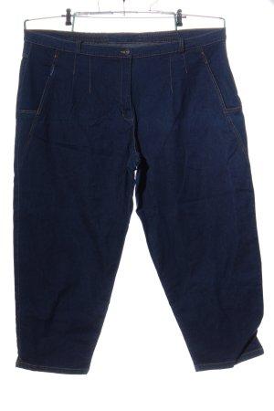 Ulla Popken Jeans a 3/4 blu stile casual