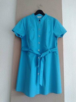 Ulla Popken Mini Dress light blue cotton