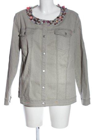Ulla Popken Blazer in jeans grigio chiaro stile casual