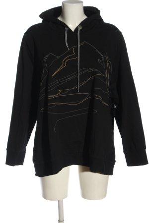 Ulla Popken Hooded Sweatshirt themed print casual look