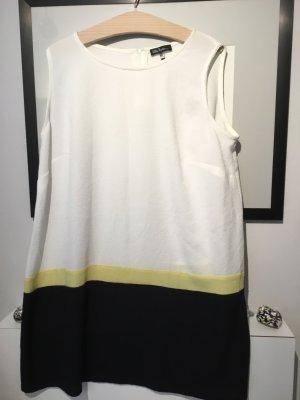 Ulla popken Kleid Damen leicht 46/48 schwarz weiß gelb Sommer