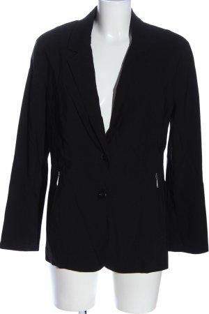 Ulla Popken Korte blazer zwart zakelijke stijl