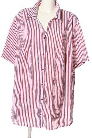Ulla Popken Camicia a maniche corte rosa-bianco stampa integrale