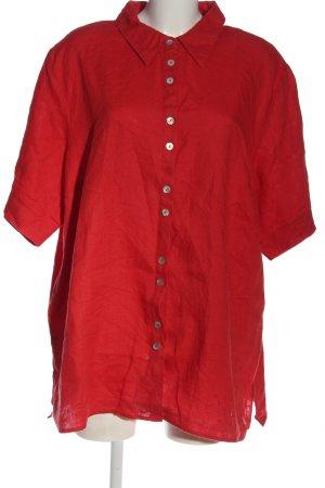 Ulla Popken Camicia a maniche corte rosso stile casual