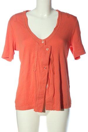 Ulla Popken Shirt met korte mouwen licht Oranje casual uitstraling