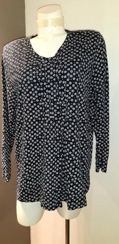 Bluzka oversize czarny-w kolorze białej wełny Bawełna