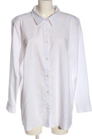 Ulla Popken Camicia a maniche lunghe bianco stile professionale