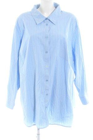 Ulla Popken Camisa de manga larga estampado a rayas look casual