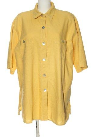 Ulla Popken Blouse en lin jaune primevère style décontracté
