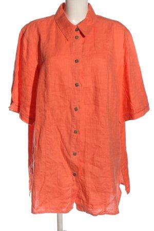 Ulla Popken Blusa in lino arancione chiaro stile casual