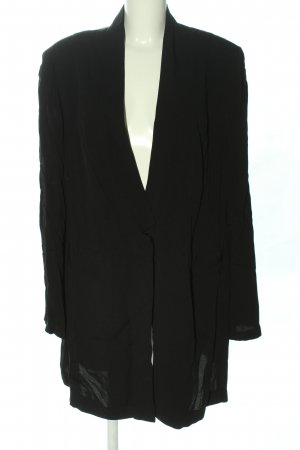 Ulla Popken Long-Blazer schwarz Business-Look