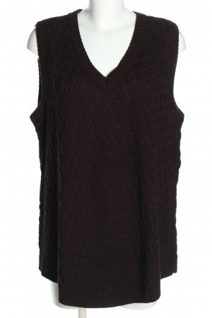 Ulla Popken Long Cardigan brown cable stitch casual look