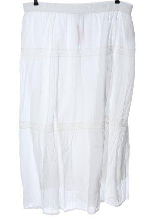 Ulla Popken Maxi gonna bianco stile casual