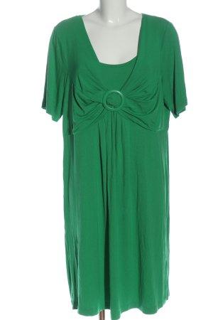 Ulla Popken Midi Dress green flecked casual look