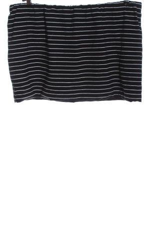 Ulla Popken Miniskirt black-white striped pattern casual look