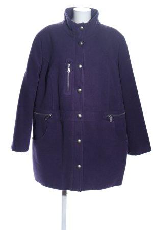 Ulla Popken Oversized Mantel blau Casual-Look