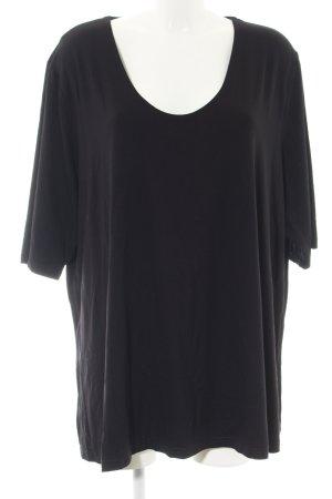 Ulla Popken Oversized shirt zwart casual uitstraling