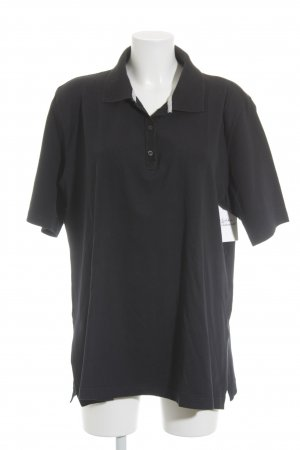 Ulla Popken Polo-Shirt dunkelblau Casual-Look