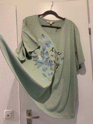 Ulla Popken Basic Shirt sage green cotton