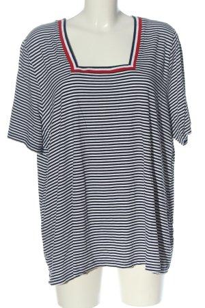 Ulla Popken Stripe Shirt white-black striped pattern casual look