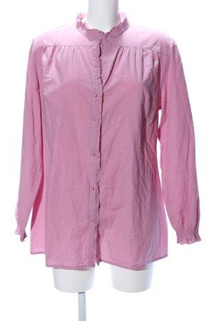 Ulla Popken Rüschen-Bluse pink Casual-Look