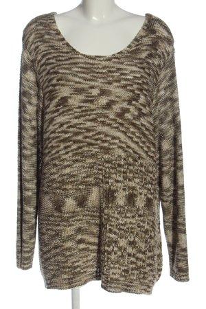 Ulla Popken Crewneck Sweater flecked casual look