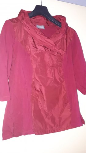 Selection by Ulla Popken Stand-Up Collar Blouse carmine