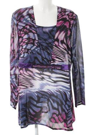 Ulla Popken Schlupf-Bluse abstraktes Muster Elegant