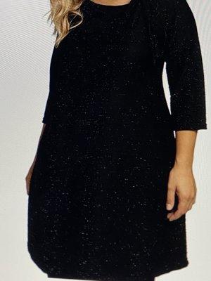 Ulla Popken Selection Longshirt Farbe Tiefschwarz  Größe 50/52